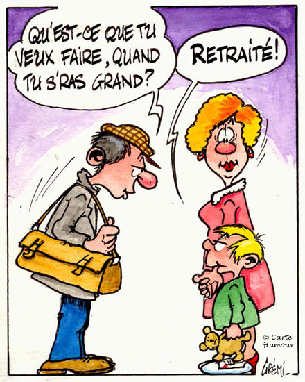 Retraite Gremi3 Dessin Humoristique Un Jeune Qui Ne Manque Pas D
