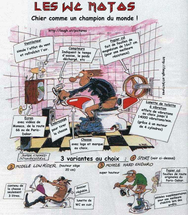 Bevorzugt wcmotos - Les wc-moto (dessin humoristique). RA06